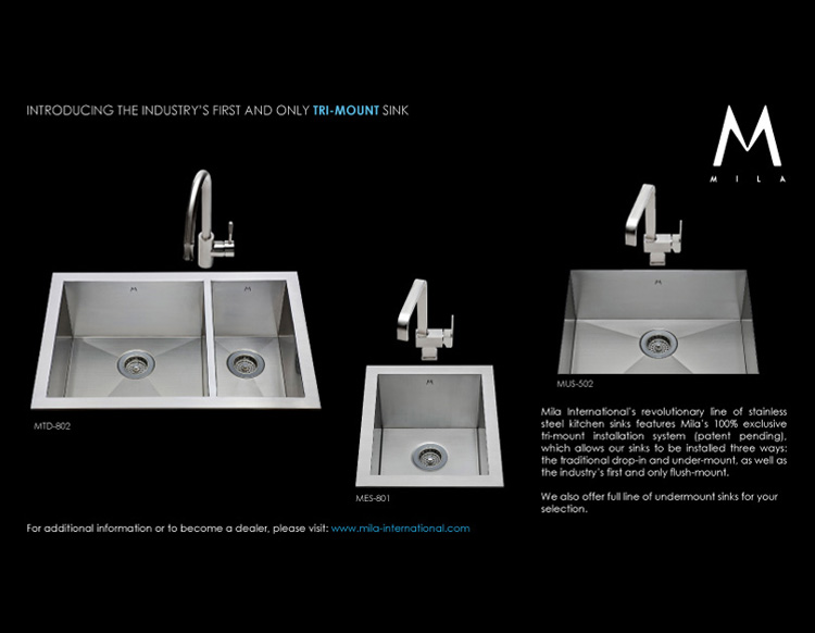 Flush mount kitchen sink, True Flush Mount stainless steel kitchen sink, double bowl kitchen sink