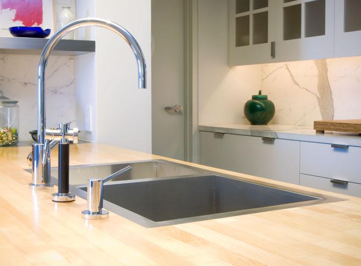 Flush mount kitchen sink, True Flush Mount stainless steel kitchen sink, double bowl kitchen sink