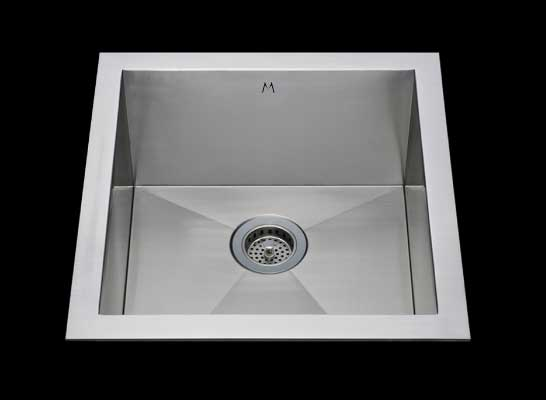 Flush mount kitchen sink, True Flush Mount stainless steel kitchen sink, single bowl kitchen sink 17 X 15 X 10