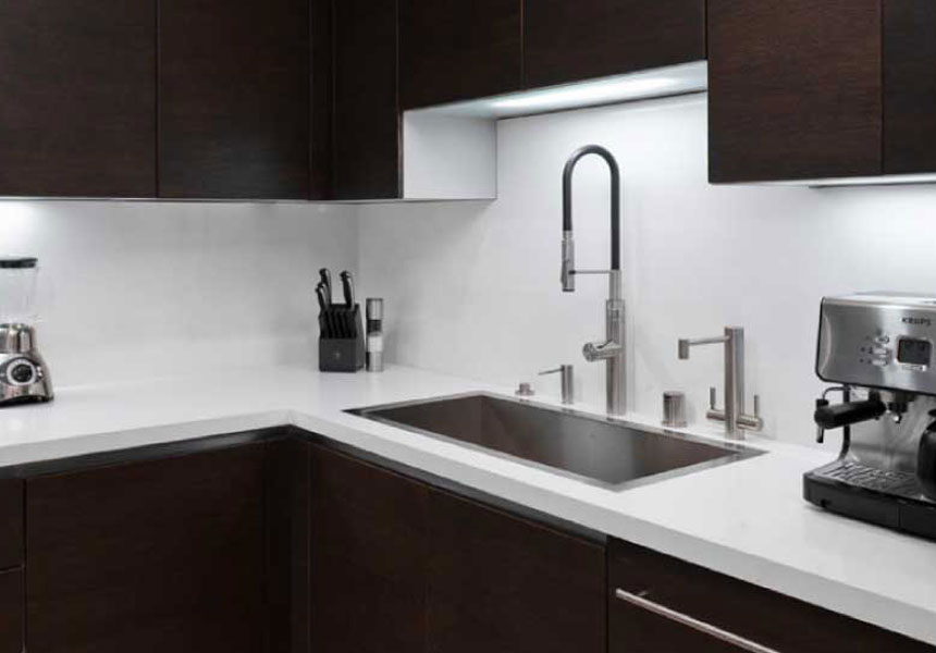 Flush mount kitchen sink, True Flush Mount stainless steel kitchen sink, single bowl kitchen sink