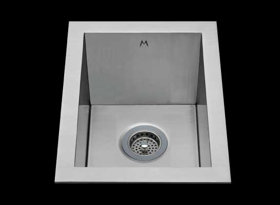 Flush mount kitchen sink, True Flush Mount stainless steel kitchen sink, single bowl kitchen sink, bar sink 9 X 15 X 8