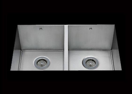 stainless Steel Kitchen Sink, under mount top mount stainless steel sink ,dual mountable stainless steel sink, easy to clean kitchen sink with bevel bowl design, double bowl kitchen sink 13/13 X 15 X 10