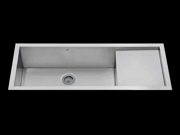 Flush mount kitchen sink, True Flush Mount stainless steel kitchen sink, single bowl prep board kitchen sink, sink with drain board 30 X 16.5 X 10