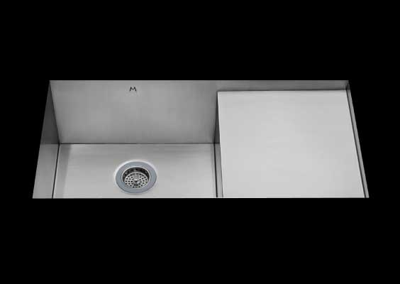 stainless Steel Kitchen Sink, dual mountable stainless steel sink, sink single bowl prep board kitchen sink, sink with drain board 17 X 16.5 X 10