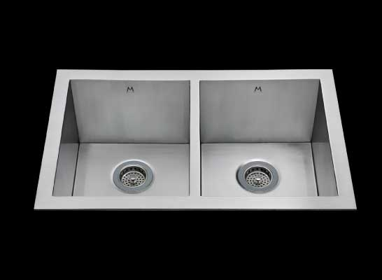 Flush mount kitchen sink, True Flush Mount stainless steel kitchen sink, double bowl kitchen sink 13/13 X 15 X 10