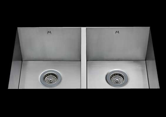 stainless Steel Kitchen Sink, under mount top mount stainless steel sink, dual mountable stainless steel sink, double bowl kitchen sink 13/13 X 15 X 10