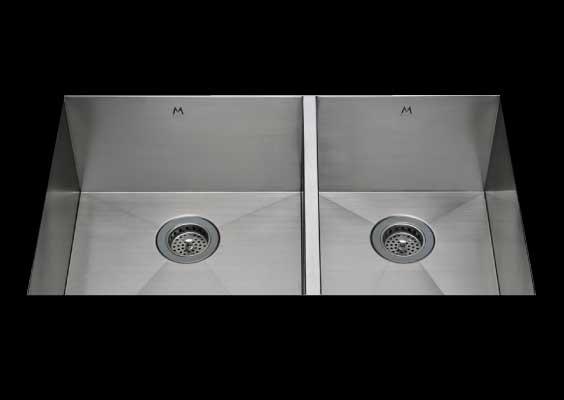 stainless Steel Kitchen Sink, under mount top mount stainless steel sink, dual mountable stainless steel sink, double bowl kitchen sink 17/13 X 15 X 10