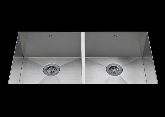 stainless Steel Kitchen Sink, under mount top mount stainless steel sink, dual mountable stainless steel sink, double bowl kitchen sink 13/13 X 18 X 10