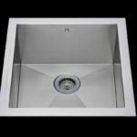 Flush mount kitchen sink, True Flush Mount stainless steel kitchen sink, single bowl kitchen sink 17 X 15 X 10