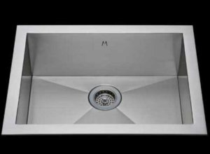 Flush mount kitchen sink, True Flush Mount stainless steel kitchen sink, single bowl kitchen sink 21 X 15 X 10