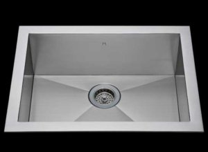 Flush mount kitchen sink, True Flush Mount stainless steel kitchen sink, single bowl kitchen sink 25 X 15 X 10