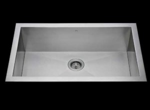 Flush mount kitchen sink, True Flush Mount stainless steel kitchen sink, single bowl kitchen sink 30 X 15 X 10