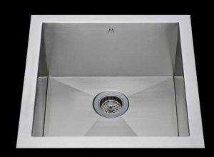 Flush mount kitchen sink, True Flush Mount stainless steel kitchen sink, single bowl kitchen sink 17 X 18 X 10