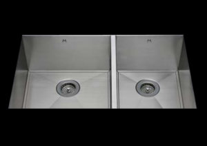 stainless Steel Kitchen Sink, under mount top mount stainless steel sink ,dual mountable stainless steel sink, easy to clean kitchen sink with bevel bowl design, double bowl kitchen sink 17/13 X 15 X 10