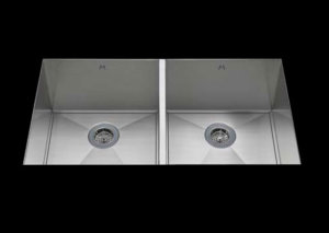 stainless Steel Kitchen Sink, under mount top mount stainless steel sink ,dual mountable stainless steel sink, easy to clean kitchen sink with bevel bowl design, double bowl kitchen sink 15.5/15.5 X 16.5 X 10