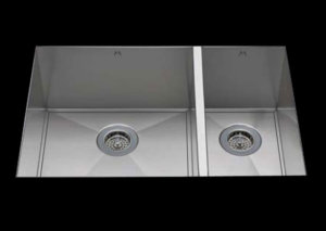 stainless Steel Kitchen Sink, under mount top mount stainless steel sink ,dual mountable stainless steel sink, easy to clean kitchen sink with bevel bowl design, double bowl kitchen sink 19/12 X 16.5 X 10
