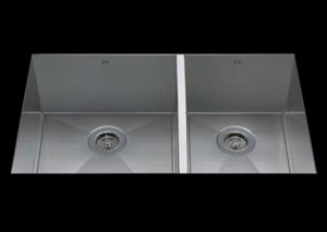 stainless Steel Kitchen Sink, under mount top mount stainless steel sink ,dual mountable stainless steel sink, easy to clean kitchen sink with bevel bowl design, double bowl kitchen sink 17/13 X 18 X 10