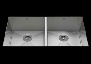 stainless Steel Kitchen Sink, under mount top mount stainless steel sink ,dual mountable stainless steel sink, easy to clean kitchen sink with bevel bowl design, double bowl kitchen sink 17/17 X 18 X 10