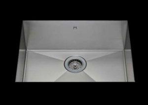 stainless Steel Kitchen Sink, under mount top mount stainless steel sink, dual mountable stainless steel sink, easy to clean kitchen sink with bevel bowl design, single bowl kitchen sink 23 X 16.5 X 10