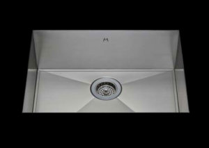 stainless Steel Kitchen Sink, under mount top mount stainless steel sink, dual mountable stainless steel sink, easy to clean kitchen sink with bevel bowl design, single bowl kitchen sink 26 X 16.5 X 10