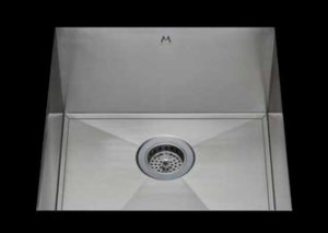 stainless Steel Kitchen Sink, under mount top mount stainless steel sink, dual mountable stainless steel sink, easy to clean kitchen sink with bevel bowl design, single bowl kitchen sink 17 X 18 X 10