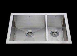 Flush mount kitchen sink, True Flush Mount stainless steel kitchen sink, double bowl kitchen sink 17/9 X 15 X 10/8