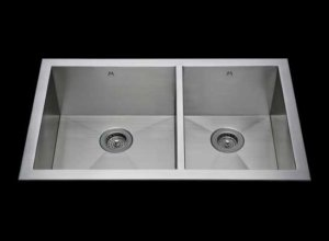 Flush mount kitchen sink, True Flush Mount stainless steel kitchen sink, double bowl kitchen sink 17/13 X 18 X 10