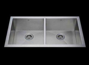 Flush mount kitchen sink, True Flush Mount stainless steel kitchen sink, double bowl kitchen sink 17/17 X 18 X 10