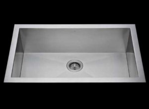 Flush mount kitchen sink, True Flush Mount stainless steel kitchen sink, single bowl kitchen sink 33 X 18 X 10