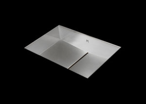stainless steel bathroom sink, unique bathroom sink, slot drain 15 X 13 X 4