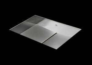 stainless steel bathroom sink, unique bathroom sink, slot drain 20 X 13 X 4