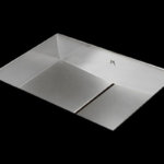 stainless steel bathroom sink, unique bathroom sink, slot drain 20 X 13 X 4
