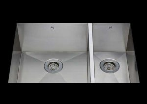 stainless Steel Kitchen Sink, under mount top mount stainless steel sink, dual mountable stainless steel sink, double bowl kitchen sink 17/9 X 15 X 10/8