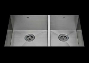 stainless Steel Kitchen Sink, under mount top mount stainless steel sink, dual mountable stainless steel sink, double bowl kitchen sink 17/13 X 15 X 10