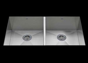 stainless Steel Kitchen Sink, under mount top mount stainless steel sink, dual mountable stainless steel sink, double bowl kitchen sink 15.5/15.5 X 16.5 X 10
