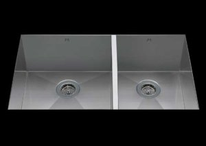 stainless Steel Kitchen Sink, under mount top mount stainless steel sink, dual mountable stainless steel sink, double bowl kitchen sink 17/13 X 18 X 10