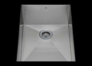 stainless Steel Kitchen Sink, under mount top mount stainless steel sink, dual mountable stainless steel sink, single bowl kitchen sink 13 X 18 X 10