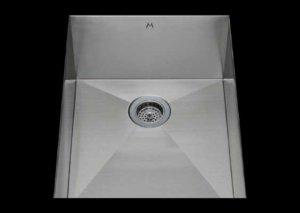 stainless Steel Kitchen Sink, under mount top mount stainless steel sink, dual mountable stainless steel sink, single bowl kitchen sink 13 X 18 X 10